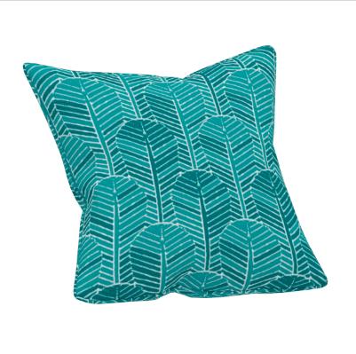 Edfu Palm Leaf Kingfisher Cushion( 45x45 cm)