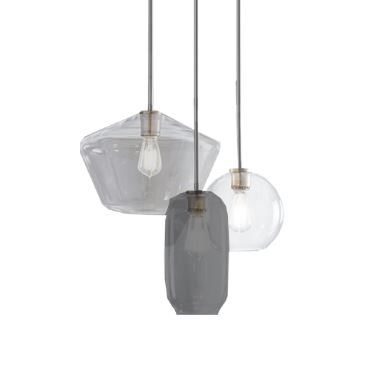 Clear and Coloured Glass Pendants
