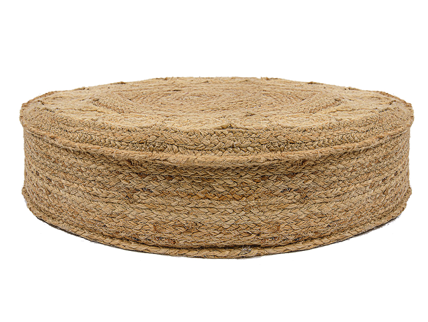Jute Rounded Pouf
