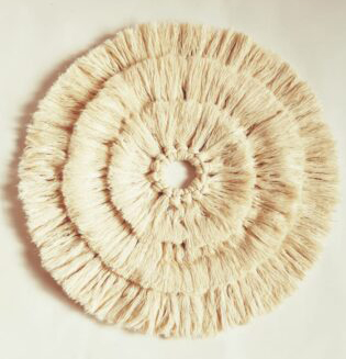Handmade Boho Cotton Wall Hanging Sun