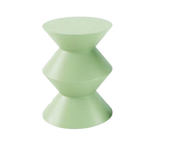 Block fiberglass side table