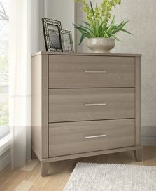 3 Drawers Chest of Drawers with handles