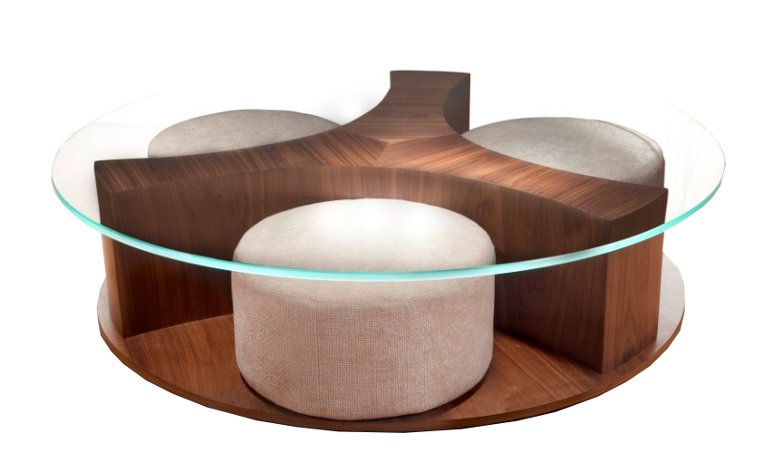 Round Table with Poufs