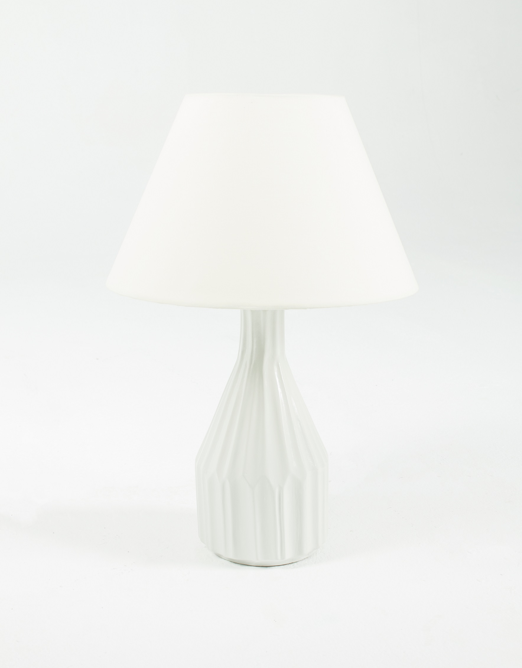 Stripe White Side Lamp