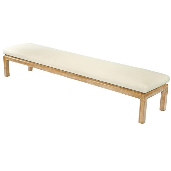 Bed Bench with a thin upholstered top