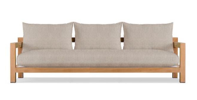 Outdoor Sofa with wooden frame - 3 seater