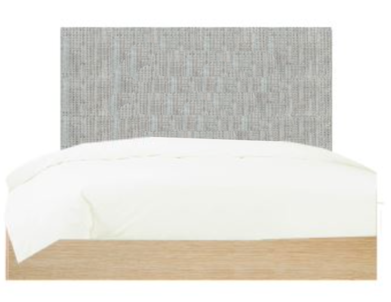 Sicily - Upholstered bed with wooden base