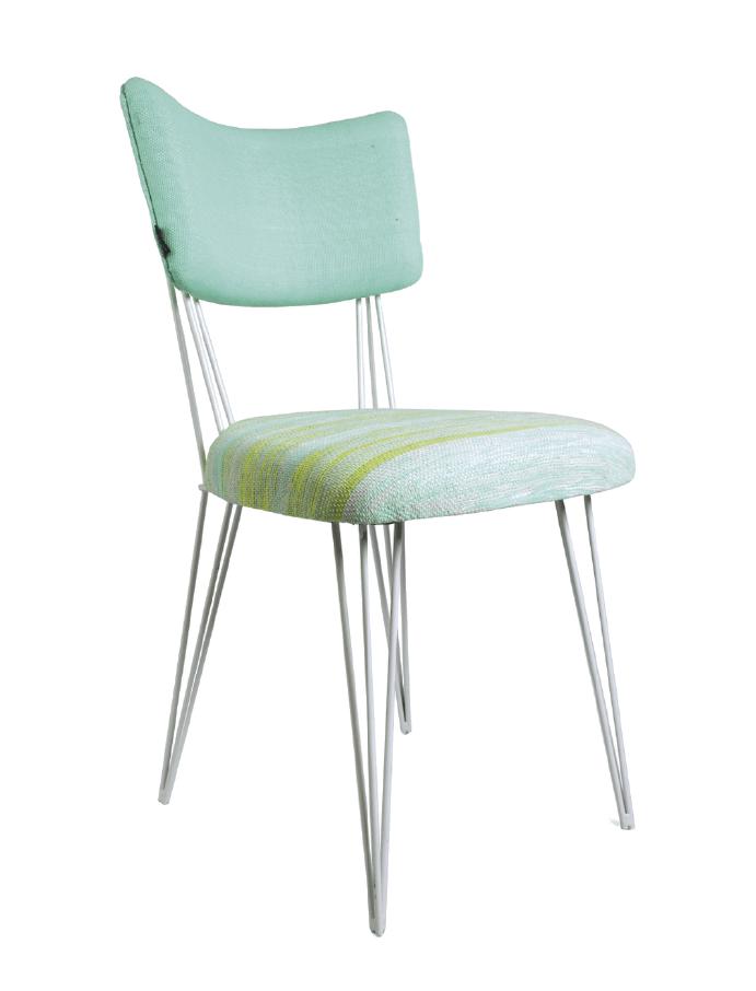 Grammy's Zebra Aqua x White Chair