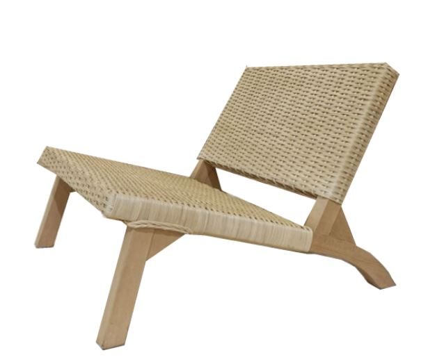 low bamboo chair