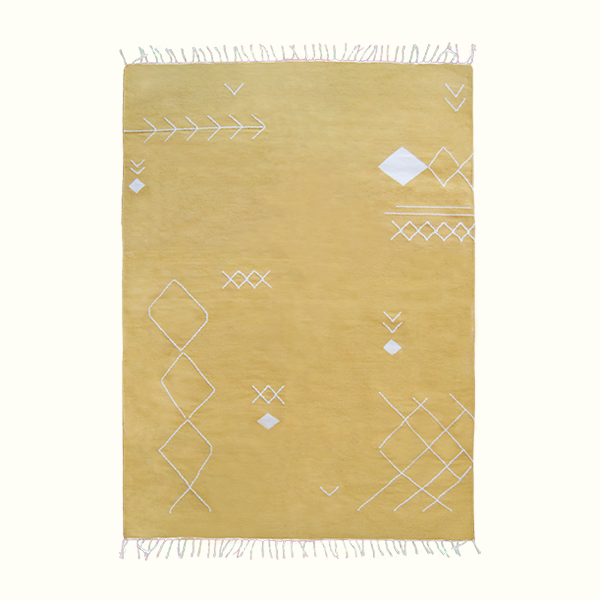 YELLOW SCATTERED STITCH RUG