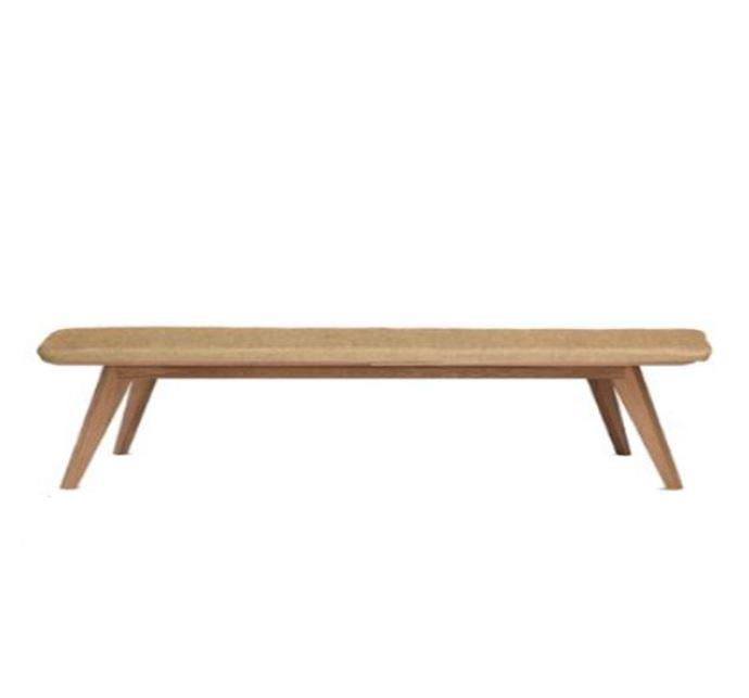 Midcentury Wooden Bench