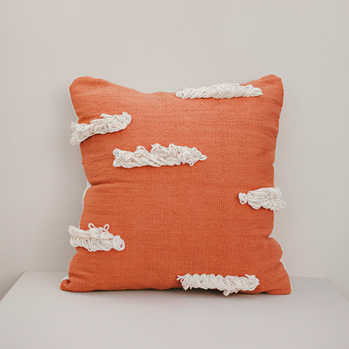 Orange Stratus Cushion