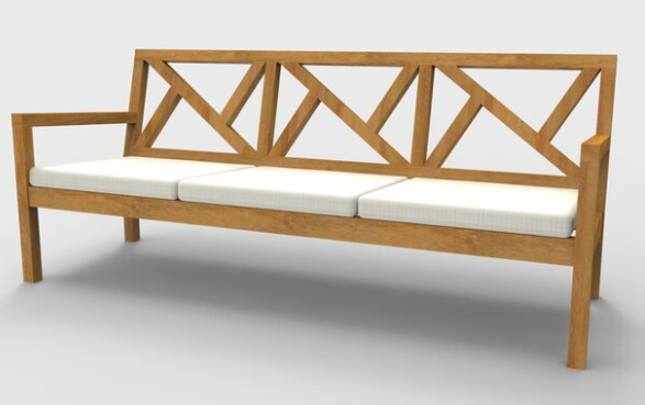 Delta Three Seater Sofa