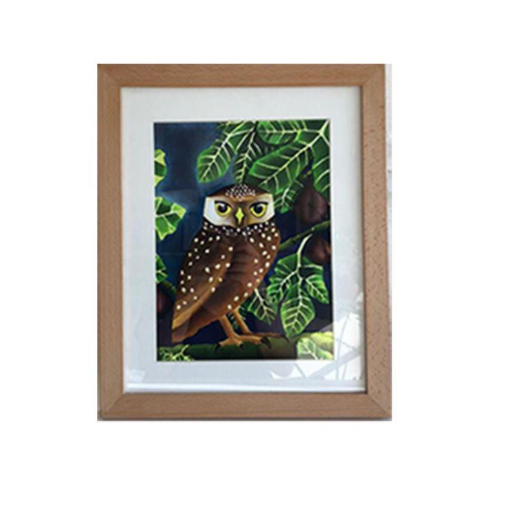Little Owl & Fig Tree Framed Print