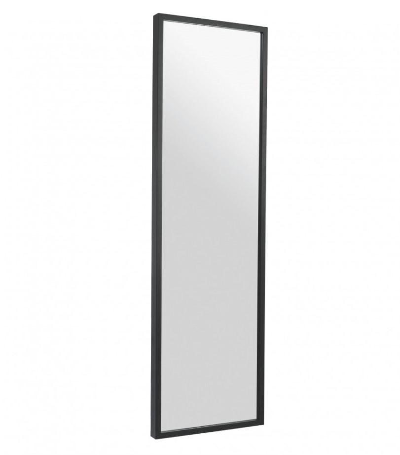 Rectangular Mirror with a Black Frame