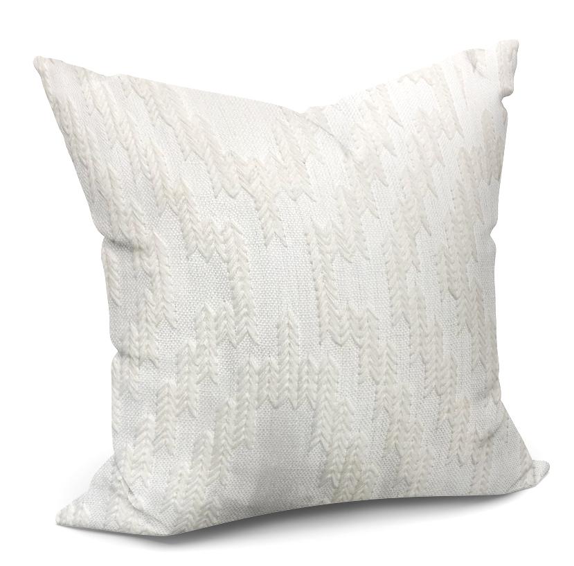 Tribal Embroidery White Cushion