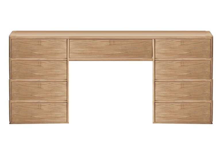 Dresser with 2 Sides of Drawers