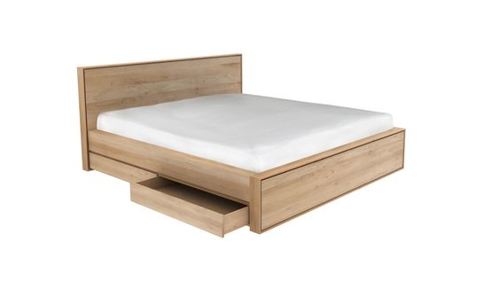Japanese Bed - 200 cm with 1 drawer on each side
