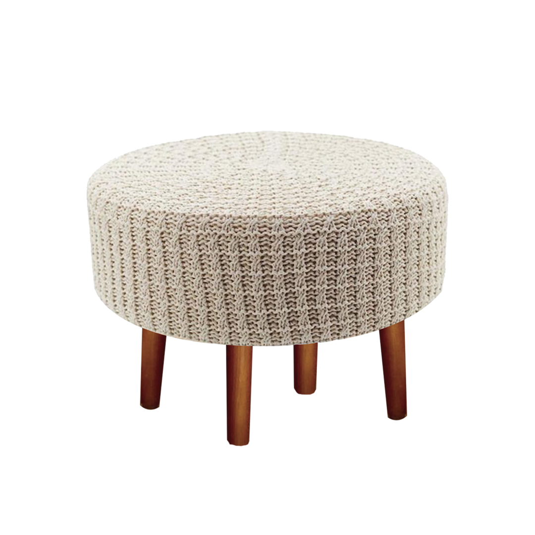 Hand-knitted stool chair