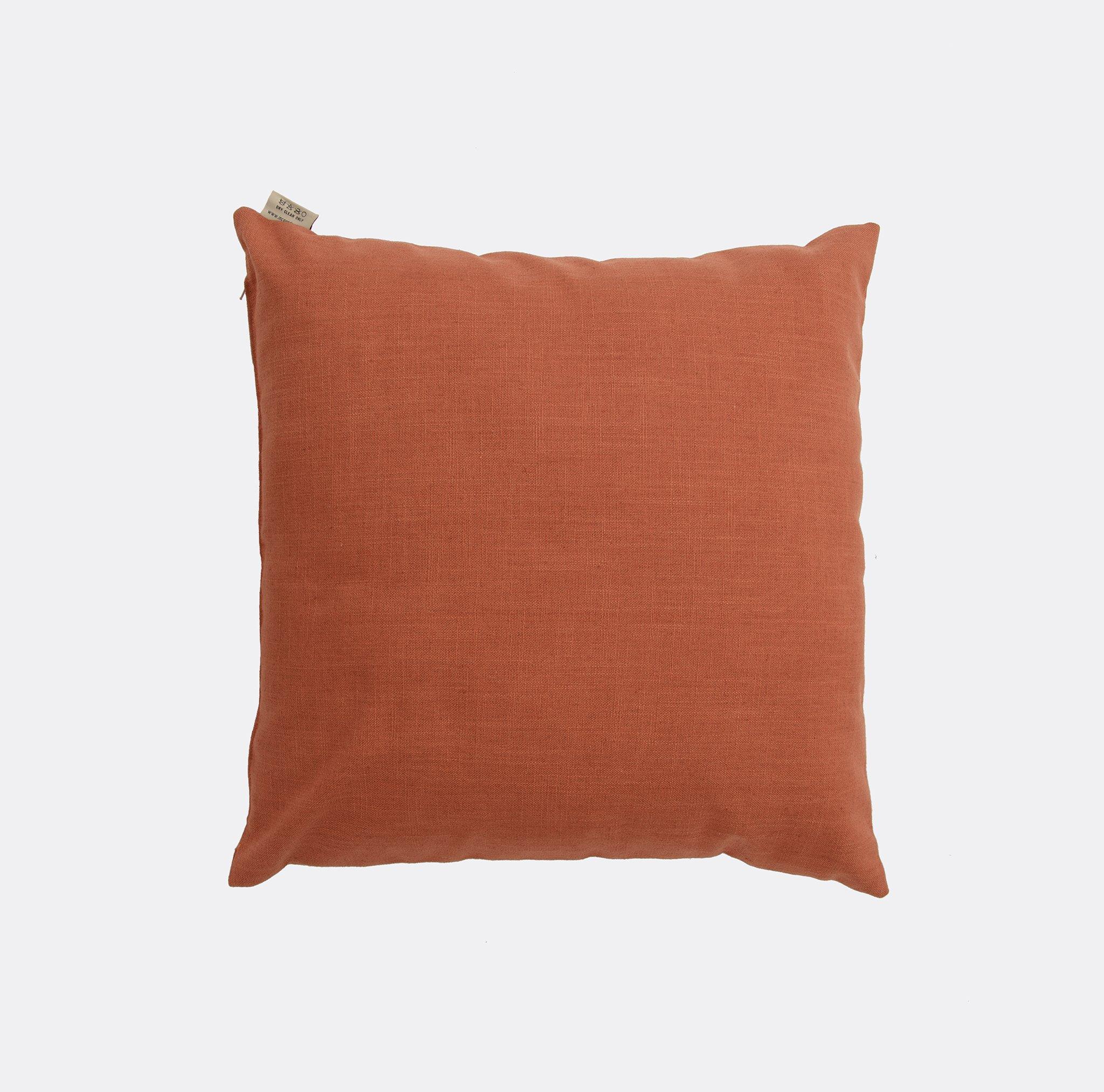 Crisp Linen - Carrot Cushion