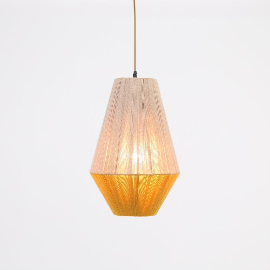 The Two-Tone Woven Chandelier